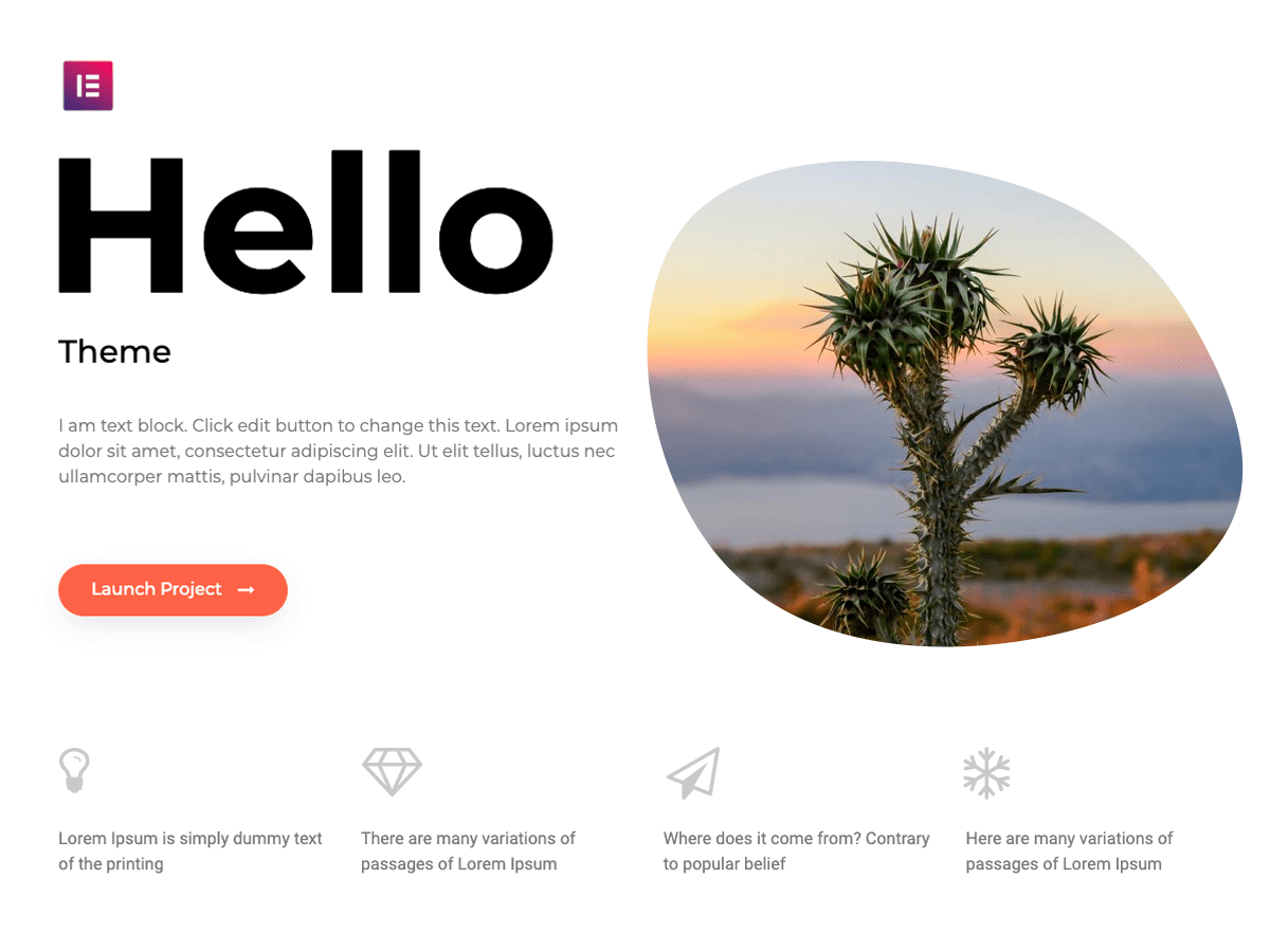 Wordpress teema Hello