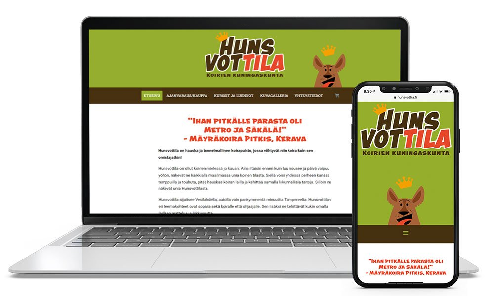 Hunsvottila nettisivut