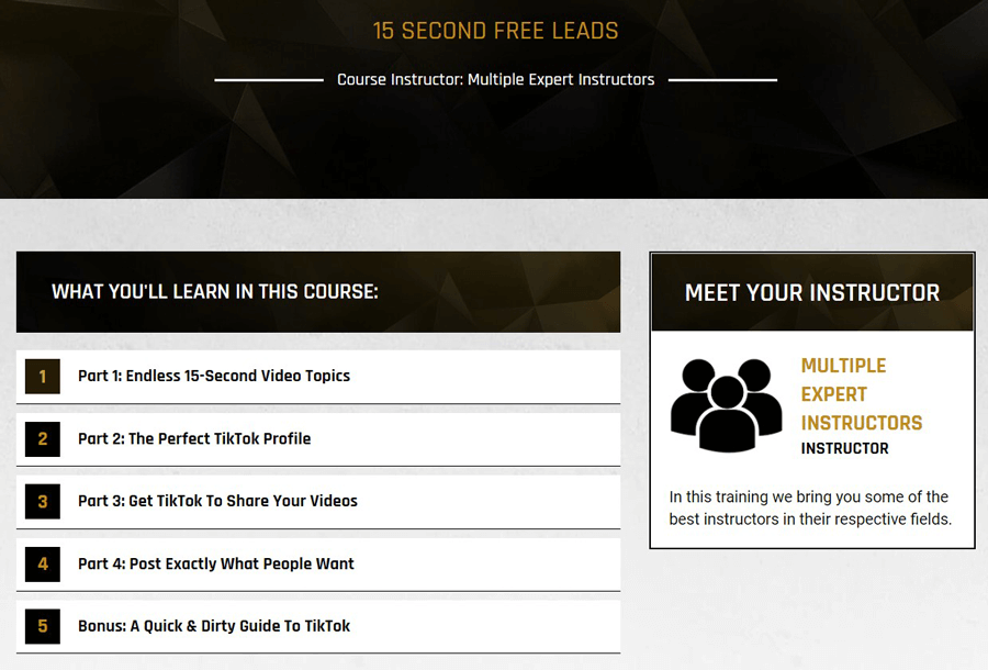 15 second free leads course Legendary Marketer
