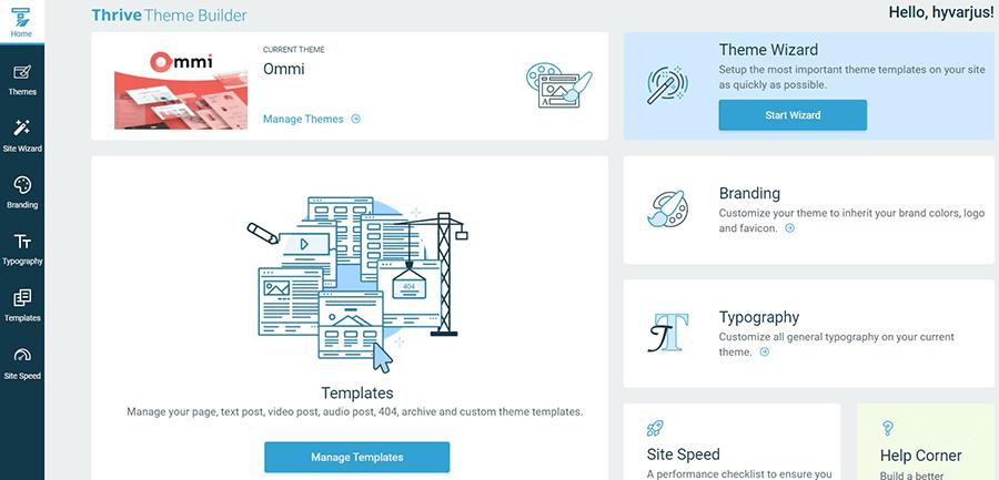 Thrive Theme Builder Homepage