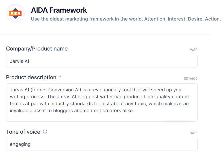 Jarvis AI AIDA framework