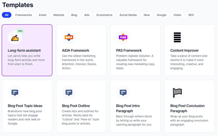 Conversion AI templates
